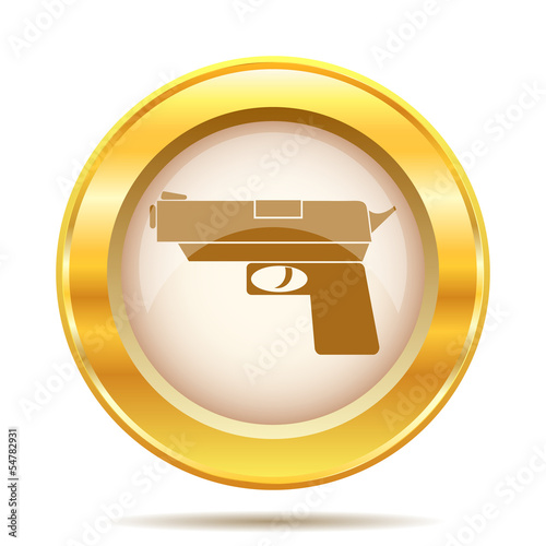 Golden shiny icon