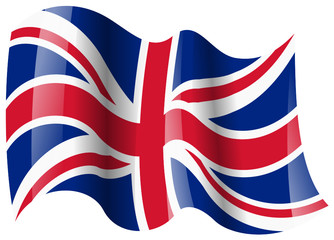 uk fahne wehend uk flag waving