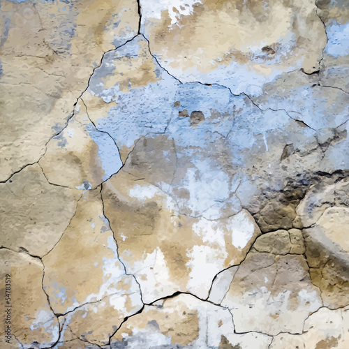 old cracked plaster vector  texture