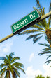 street sign of famous street Ocean Drice in Miami South