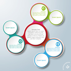Infographic Design Colored Chains White Circles 3 Options