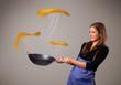 Woman making pancakes
