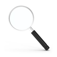 Search Icon Magnifying Glass isolated on white