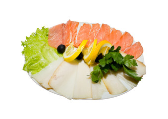Plate of fish cuts 2
