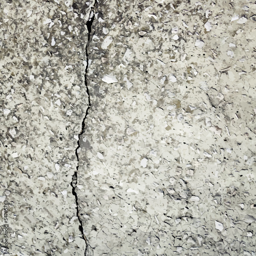 concrete crack vector background texture
