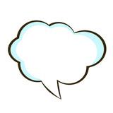 comic book speech bubble symbol