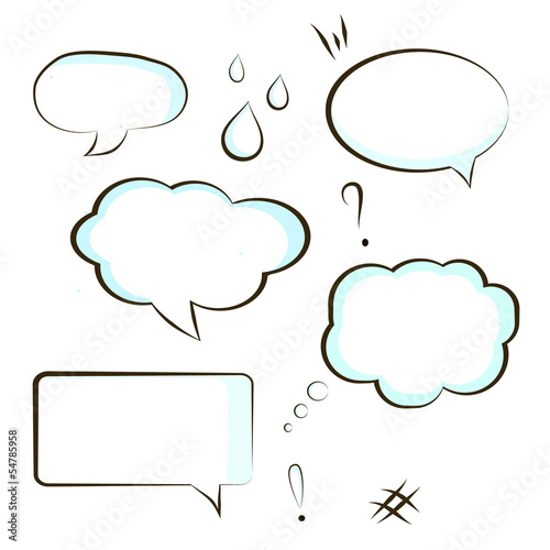 comic book speech bubble symbol