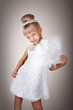 Beautiful little girl in princess dress