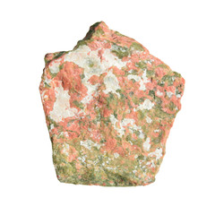 Unakite isolated on white