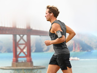 Running man - male runner in San Francisco