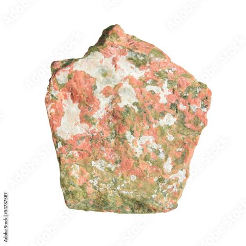Unakite isolated on white - 54787587
