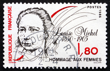 Postage stamp France 1986 Louise Michel, Anarchist