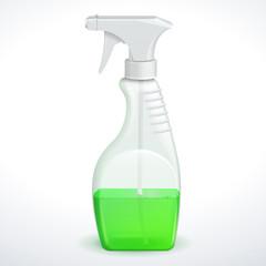 Spray Pistol Cleaner Plastic Bottle White