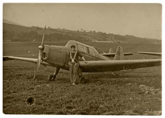 pilot, aviator - circa 1955 - czechoslovakia