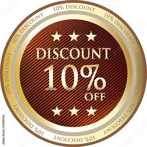Ten Percent Discount Gold Medal