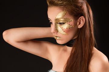 Cute teenage girl in makeup