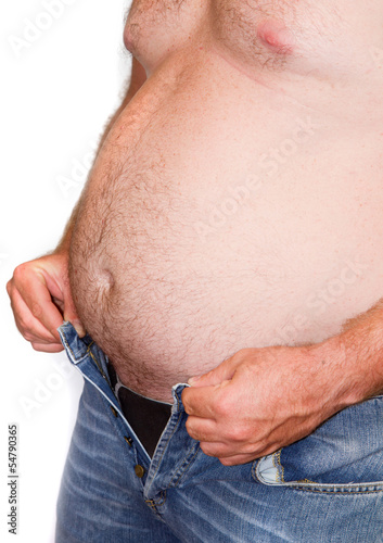 uomo sovrappeso