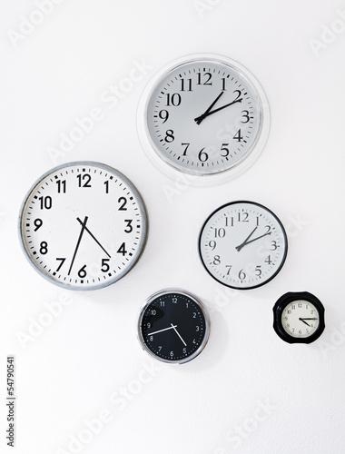 Leinwanddruck Bild Uhren