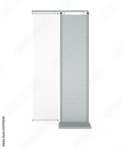 Design Pattern of Information Stand isolated on white