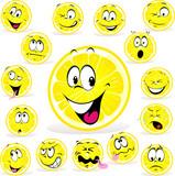 Fototapety lemon cartoon with many expressions