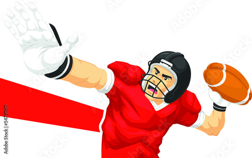 Football Player Quarterback Throwing Ball