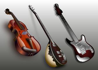 Keman + Bağlama + Gitar