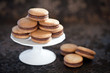 Homemade cookies with cinnamon and chocolate, selective focus