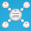 Circles for business concepts. Infographics, presentation