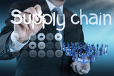 supply chain management concept by flow from supplier to custome