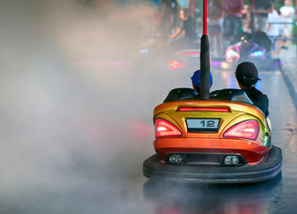 Bumper Car in an amusement park