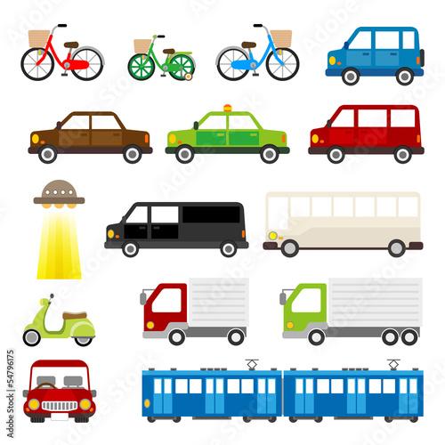 車 トラック 自転車 電車 タクシー 乗り物