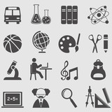 Education icons set.Vector