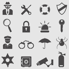 Security icons set.Vector