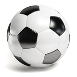 Fototapety Leather football. Single soccer ball isolated