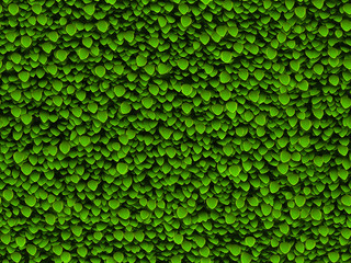 Background green leaves, pattern
