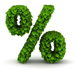 Percent green leaves font