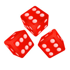 three dimensional dices with high score vector