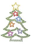 Christmas tree made of rhinestones poster