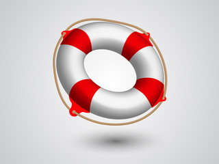 Vector illustration of Life Buoy .