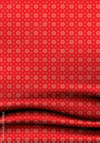 Soft vector drappery with ornate pattern. Creative vector backgr