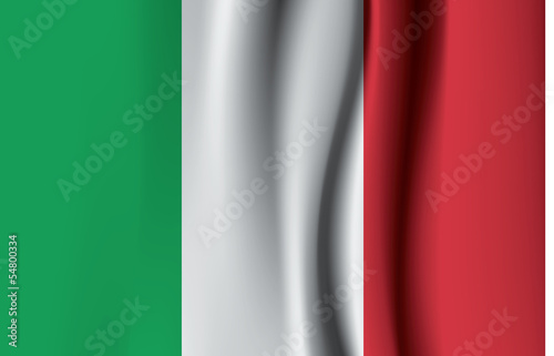 Textured flag of Italy. Vector format, good as background. sizab