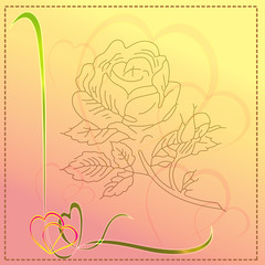 Roses and lovely  background