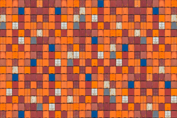 Pattern of colorful cargo shipping containers