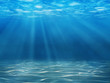 canvas print picture - Tranquil underwater scene with copy space
