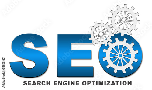 SEO Text with Gears