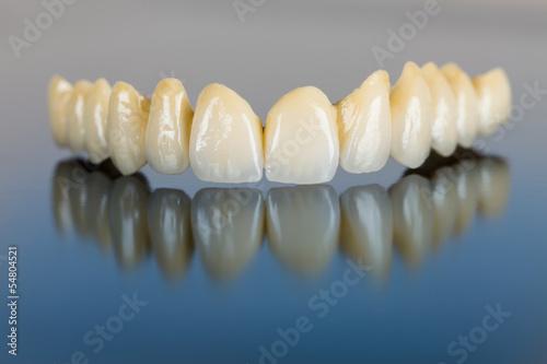 Fototapeta Porcelain teeth - dental bridge