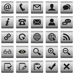 Web buttons icons with a texture set 2