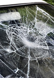 .Destroyed window-pane
