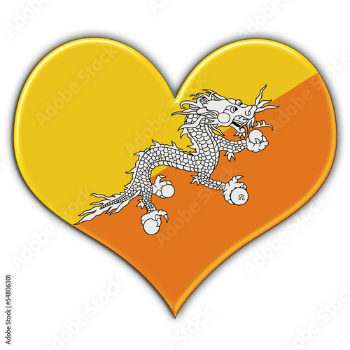 Heart with flag of Bhutan