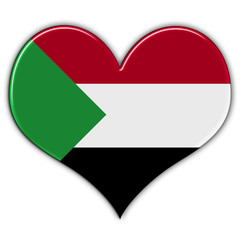 Heart with flag of Sudan